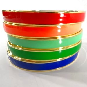 🆕 GAP Rainbow Enamel Bangle Bracelet Set